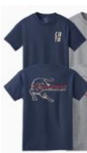 Short Sleeve T-Shirt CATA front left with Back Logo (NAVY)