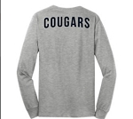 Long Sleeve T-Shirt With Logo on left chest, down the arm and across the back (GREY)